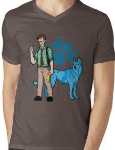 Clues of Blue Redux Mens V-Neck T-Shirt
