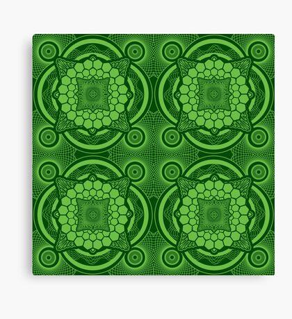 Green Mandala Pattern Canvas Print