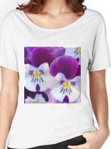 Pansy Flower Women's Relaxed Fit T-Shirt