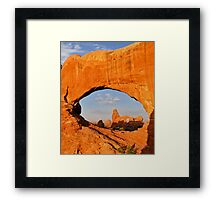 Turret Arch and North Window Framed Print