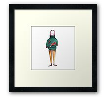 A Thumb in a Turtleneck Framed Print