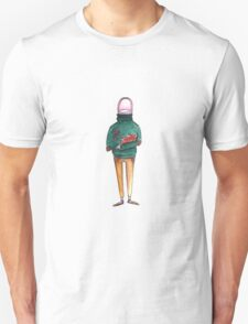 A Thumb in a Turtleneck T-Shirt