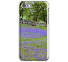 Bluebell glade in Yorkshire iPhone Case/Skin