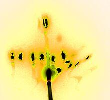 Hanukkah Candles in Yellow by Lesley Rosenberg