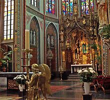 Altar of St. Francis Xavier Church - Amsterdam by David J Dionne