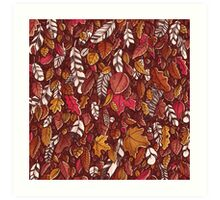 Leaves color red Art Print