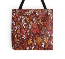 Leaves color red Tote Bag