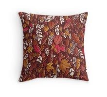 Leaves color red Throw Pillow