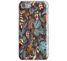 Leaves color blue iPhone Case/Skin