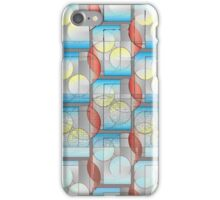 Circles and Rectangles Gradient Pattern iPhone Case/Skin
