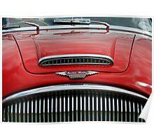Austin Healey 3000 mk3 bonnet & grill Poster