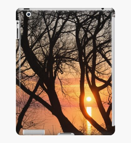 Sunrise Through the Chaos of Tree Branches iPad Case/Skin