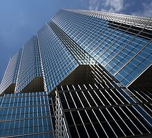 Silver Lines to the Sky - Downtown Toronto Skyscraper by Georgia Mizuleva