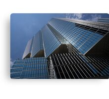 Silver Lines to the Sky - Downtown Toronto Skyscraper Canvas Print