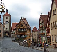 Rothenburg - Plönlein by David J Dionne