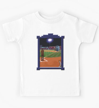 Dr. Who's on First Base Kids Tee