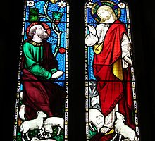 Two panel window: St Mary's, Sturminster Marshall by pix-elation