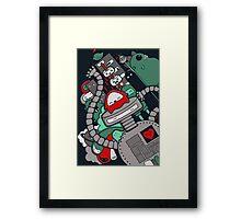 Robot Town Framed Print