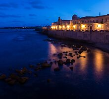 Syracuse, Sicily Blue Hour - Ortygia Evening Mood by Georgia Mizuleva
