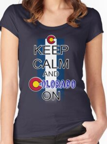 Keep Calm and Colorado On Women's Fitted Scoop T-Shirt