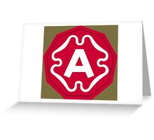Ninth United States Army Greeting Card
