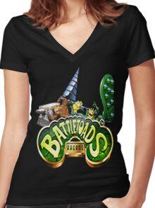 BattleToads Arcade Women's Fitted V-Neck T-Shirt