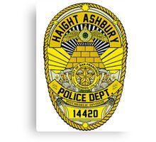 HAIGHT ASHBURY POLICE DEPT. SHIELD  Canvas Print