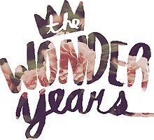 The Wonder Years floral logo  by Luke Martin