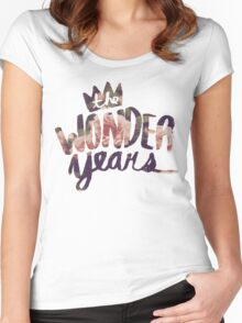 The Wonder Years floral logo  Women's Fitted Scoop T-Shirt
