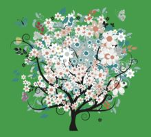 Beautiful flowers tree Kids Clothes
