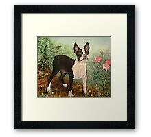 """Lady"" in the roses Framed Print"