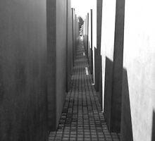 Holocaust Memorial - Berlin B/W by corder-courtier