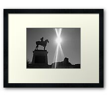 Monument at Capitol Building, Washington DC B/W Framed Print