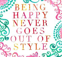 Lilly Pulitzer - Happy Never Goes Out of Style by juliapram