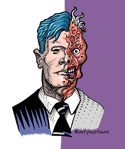 Harvey Dent (Two-Face) by Rustyoldtown