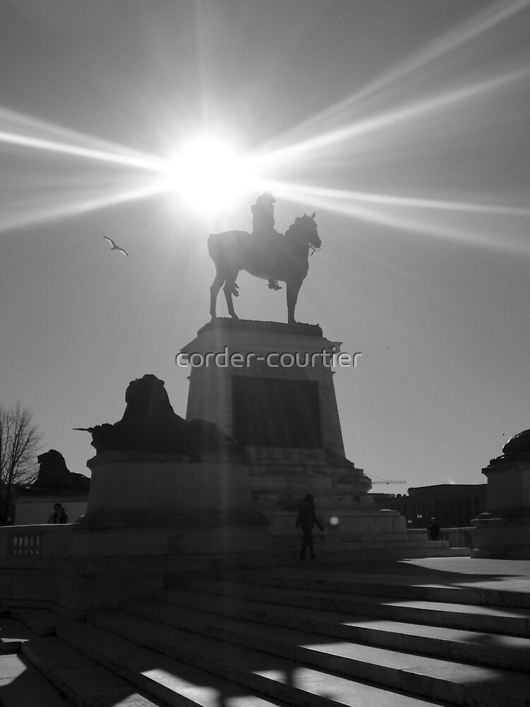 Monument in Light at Capitol Building, Washington DC B/W by corder-courtier