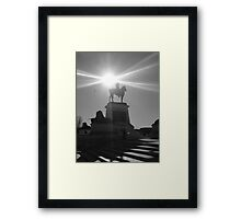 Monument in Light at Capitol Building, Washington DC B/W Framed Print