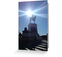 Monument in Light at Capitol Building, Washington  Greeting Card