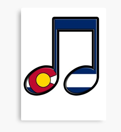 The Sound of Colorado is Music Canvas Print