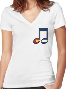 The Sound of Colorado is Music Women's Fitted V-Neck T-Shirt
