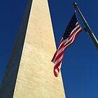 Washington Monument with American Flag by corder-courtier