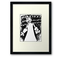Doctor Horrible - Non Transparent Evil Laugh Framed Print
