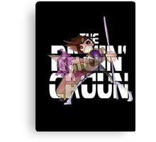 The Ragin' Cajun (Gambit; Black Background) Canvas Print
