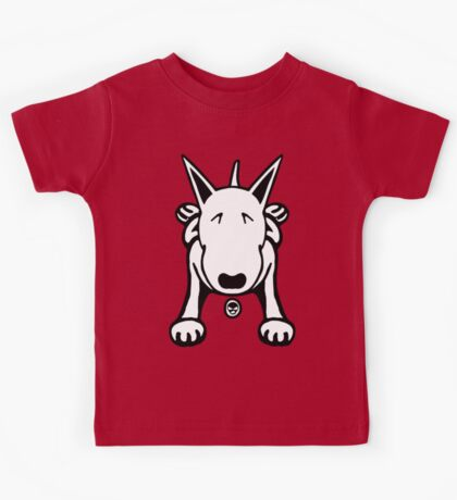 Cartoon English Bull Terrier Sprawl Tee  Kids Tee