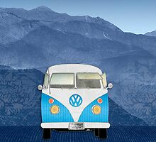 Volkswagen Bus by Janet Carlson