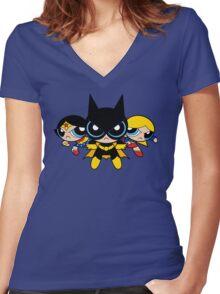 Supertough Girls Women's Fitted V-Neck T-Shirt