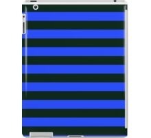 Black and Blue Banded Design iPad Case/Skin