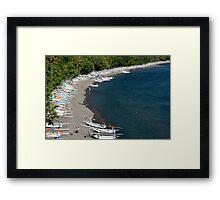 Fishing boats on Bali Framed Print