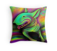 English Bull Terrier Colour Splash  Throw Pillow