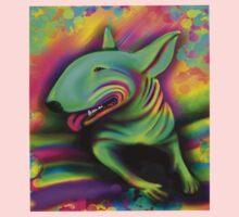 English Bull Terrier Colour Splash  One Piece - Long Sleeve
